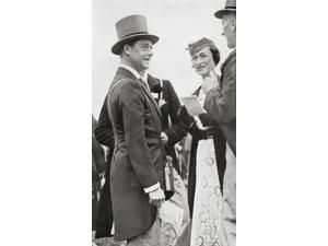 The Prince Of Wales Later King Edward Viii At Ascot Races With Wallis Simpson In 1935 Edward Viii Edward Albert Christian George Andrew Patrick David Later The Duke Of Windsor 1894 Poster Print (11 x