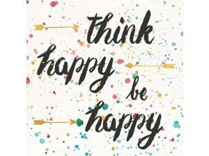 Think Happy II Poster Print by Jess Aiken (24 x 24)