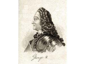 George Ii 1683-1760 George Augustus King Of Great Britain And Ireland 1727-1760 Duke Of Brunswick-Luneburg Archtreasurer And Prince Elector Of The Holy Roman Empire From The Book Crabbs Historical Dic