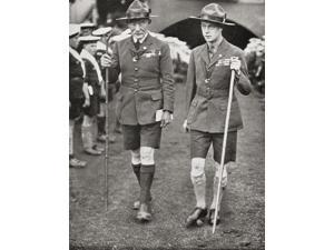 The Prince Of Wales Later King Edward Viii With Robert Baden-Powell At The Imperial Jamboree Wembley London England In 1924 Edward Viii Edward Albert Christian George Andrew Patrick David Later The Du