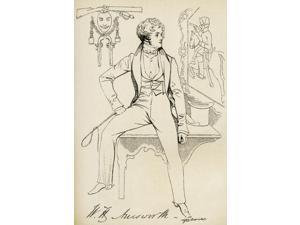 William Harrison Ainsworth, 1805 Poster Print (12 x 18)