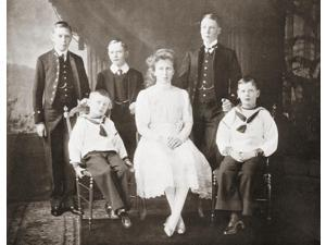 The Children Of King George V. From Left To Right, Prince Albert, Prince John, Prince Henry, Princess Mary, Prince Edwar