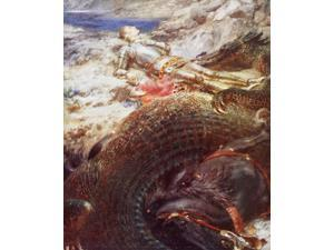 St George And The Dragon After A Painting By Briton Riviere From King AlbertS Book Published 1915 Here St George Is Asleep And His Horse Appears To Be Dead Probably He Represents A Sleeping Belgium Or