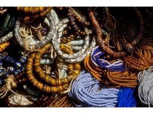 Detail of Beads for Jewelry Making, Makola Market, Accra, Ghana Print by Alison Jones (18 x 12)