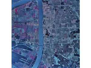 Satellite view of Baton Rouge, Louisiana Poster Print (13 x 13)