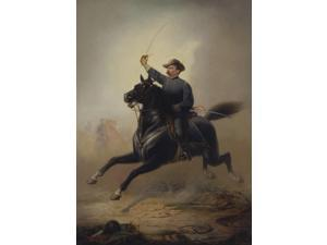 Painting of General Philip Sheridan making his famous ride from Winchester Poster Print by John ParrotStocktrek Images (11 x 16)