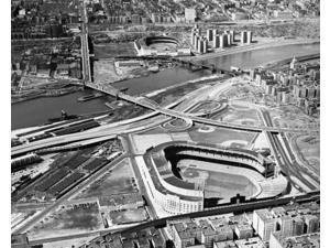 Aerial view of Yankee Stadium and Polo Grounds New York City circa 1955 Photo Print (8 x 10)