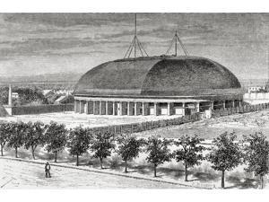 A Mormon Tabernacle Salt Lake City Utah America In The 19Th Century From El Mundo En La Mano Published 1875 Poster Print (18 x 11)