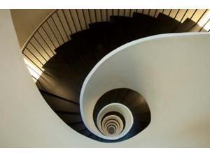 Spiral staircase, Silken Gran Hotel Domine, Bilbao, Spain Poster Print by Jaynes Gallery (19 x 12)
