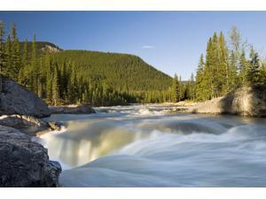 Posterazzi DPI1831875 Waterfall Elbow River Kananaskis Country Alberta Poster Print, 17 x 11