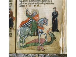 Life Of St George And St Margaret Poster Print (24 x 18)