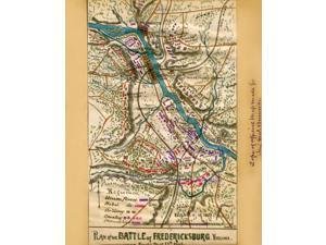 Plan of the battle of Fredericksburg Virginia  fought December 13th 1862  Area surrounding Fredericksburg during the first battle December 12-13 1862 Due to Burnsides slow maneuvering Lee was able to