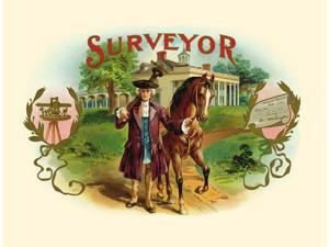 Embossed image of George Washington as a surveyor before becoming President  He with his horse possibly Blueskin or Old Nelson walk down a path away from Mount Vernon  Mount Vernon was the plantation