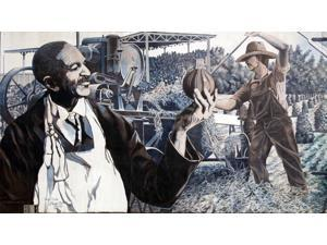 George Washington Carver Mural Dothan Alabama Poster Print (18 x 24)