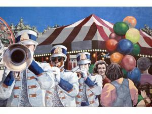 Dothan is a Mural City Murals painted on many downtown buildings by nationally and internationally known muralists showcase early scenes of local and state history Poster Print by Carol Highsmith (18