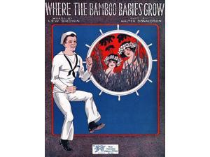 This sheet music is for the song �Where the Bamboo Babies Grow� The song�s lyrics were written by Lew Brown and the music was composed by Walter Donaldson The sheet music was published by Shapiro Bern