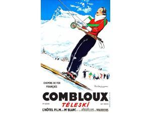 The alpine hamlet of Combloux a picture of serene confidence a striking brunette hitches a ride on the ski tow undoubtedly ready to impress all with her downhill prowess In the background ski school n