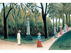 Luxembourg Gardens - Monument to Chopin Poster Print by Henri Rousseau (18 x 24)