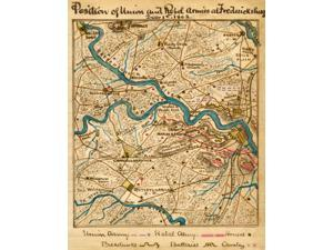 Position of Union and Rebel armies at Fredericksburg December 1st 1862  Map shows the area surrounding Fredericksburg Va including Spotsylvania Courthouse Chancellorsville and Falmouth during the Fred