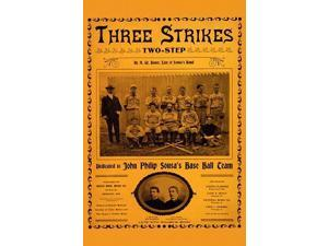 music cover showing John Philip Sousa (front row center) and his baseball team Poster Print by Bauer Brothers Music Co (18 x 24)