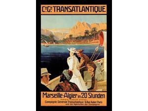 Transatlantique Marseille-Algier in 20 Stunden  Published by M?hlmeister & Johler Hamburg Poster Print by Anonymous (18 x 24)