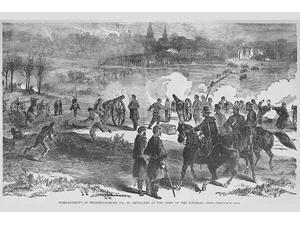 Bombardment of Fredericksburg Poster Print by Frank  Leslie (18 x 24)