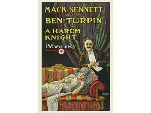 Ben Turpin sits beside a young damsel as she is lying on a recliner Poster Print by Mack Sennett (18 x 24)