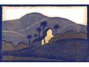 Woodblock print by Frank Redlinger (1885-1951) who was known for graphic art primarily focused on the West  Born in Missouri on Dec 25 1885  After 1931 Redlinger had studios in Abilene TX and Los Ange