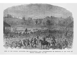 Crossing the Rappahannock from Fredericksburg to Falmouth Virginia Poster Print by Frank  Leslie (18 x 24)