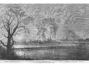 Fredericksburg on the Rappahannock Destroyed by Fire Poster Print by Frank  Leslie (18 x 24)