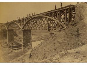 Potomac Creek Bridge Aquia Creek & Fredericksburg Railroad April 18 1863 Poster Print (18 x 24)