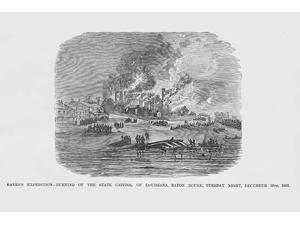 Burnside Burns Baton Rouge Poster Print by Frank  Leslie (18 x 24)