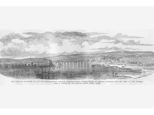 Falmouth Virginia Opposite Fredericksburg Burnside Headquarters Poster Print by Frank  Leslie (18 x 24)