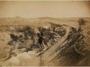 Military railroad bridge across Potomac Creek on the Fredericksburg Railroad Poster Print (18 x 24)