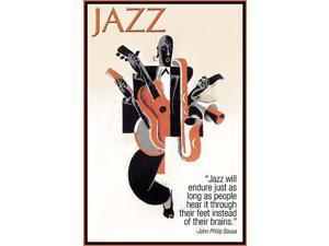 Jazz will endure just as long people hear it through their feet instead of their brains  John Philip Sousa Poster Print by Wilbur Pierce (18 x 24)