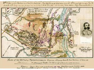 Plan of the battle of Fredericksburg Virginia  showing [sic] Union and Rebel positions 13th December 1862  Battle of Fredericksburg Poster Print by Robert Knox Sneden (18 x 24)