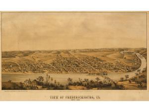 Fredericksburg aerial view - 1863 Poster Print (18 x 24)