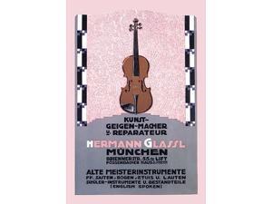 Art by Carl Kunst (1884-1912) for Hermann Glassl a Violin Maker in Munich Germany Poster Print by Carl Kunst (18 x 24)