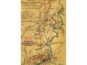 Battle of Chancellorsville including operations from April 29th to May 5th 1863  Area between Wilderness in Orange County Va through Chancellorsville and Fredericksburg in Spotsylvania County Va givin