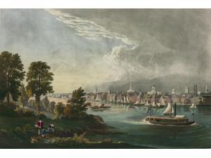 Hartford Connecticut from the Connecticut River Poster Print (18 x 24)