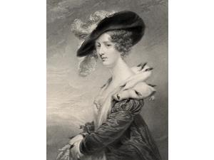 Georgiana Agar-EllisLady Dover 1804-1860 Wife Of George Agar-Ellis Engraved By H Robinson After JJenkinsFrom The Book National Portrait Gallery Volume I  Published 1830 Poster Print (13 x 17)