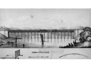 Design for Fultons Cast Iron Aqueduct Poster Print by Science Source (24 x 18)