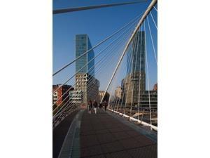 Zubizuri Bridge, Bilbao, Spain Poster Print by Walter Bibikow (18 x 24)