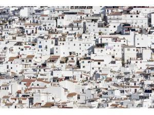 Typical White-Washed Mountain Town Belonging To The Comarca Or Region Of The Axarquia Competa Malaga Province Andalusia Spain Poster Print (19 x 12)