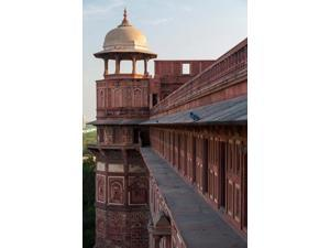 Two pigeons sit on the roof's ledge, Agra fort, India Poster Print by Brent Bergherm (12 x 17)