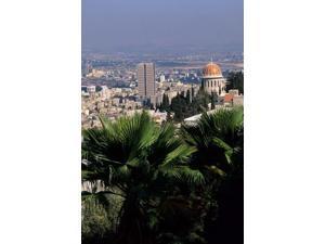 Haifa Cityscape from Bahai Dome, Israel Poster Print by Bill Bachmann (24 x 36)