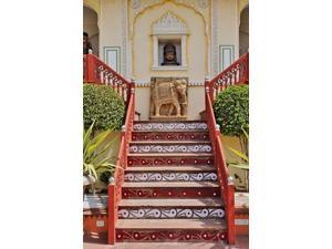 Steps at Raj Palace Hotel, Jaipur, India Poster Print by Adam Jones (11 x 17)