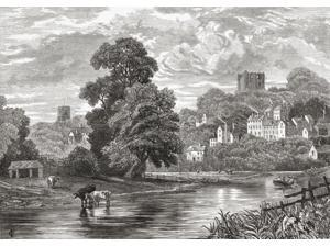 Guildford Surrey England Seen From The River Wey In The Late 19Th Century From Our Own Country Published 1898 Poster Print (17 x 12)