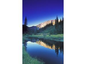 Small Calm Mountain Creek Kootenays British Columbia Canada Poster Print (11 x 17)