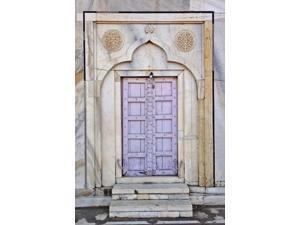Lavender colored door, Taj Mahal, Agra, India Poster Print by Adam Jones (11 x 17)